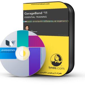 خرید آموزش گاراژ باند 11 - GarageBand 11 Essential Training